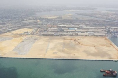 Le port autonome d'Abidjan.