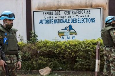 Le siège de l'Autorité nationale des élections, l'institution centrafricaine chargée de l'organisation des élections de 2020-2021.