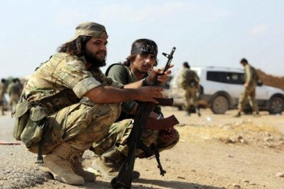 Soldats sur le territoire libyen.