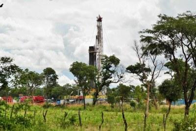 An oil drill in Namibia's Kavango Basin.