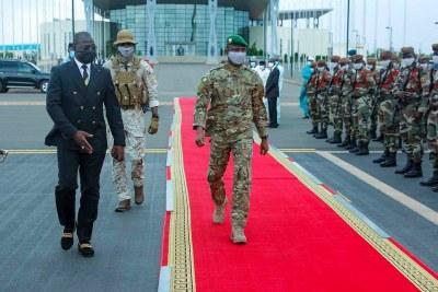 Mali's Transitional President Colonel Assimi GOITA,