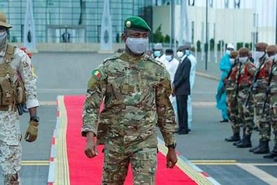 Le Président de la Transition, Colonel Assimi GOITA