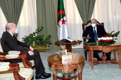 Le président de la République, Abdelmadjid Tebboune et son nouveau Premier ministre Aïmen Benabderrahmane,