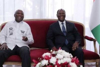 Le Président de la République, Alassane Ouattara, et l'ancien Président, Laurent Gbagbo, ont eu, le 27 juillet 2021 au Palais Présidentiel d'Abidjan, un entretien