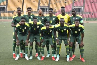 L'équipe du Sénégal lors du 2ème tour des éliminatoires de la Coupe du Monde #Qatar2022..